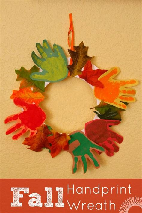 crafts fall fall handprint wreath fall crafts for fall crafts