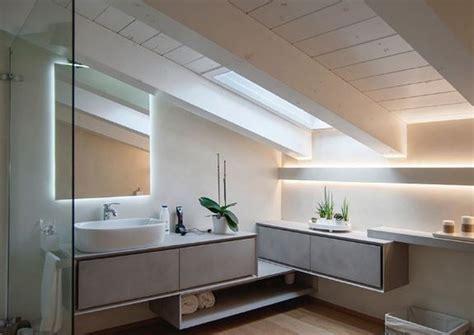 illuminazione soffitto bagno illuminazione bagno con strisce led diffusa e