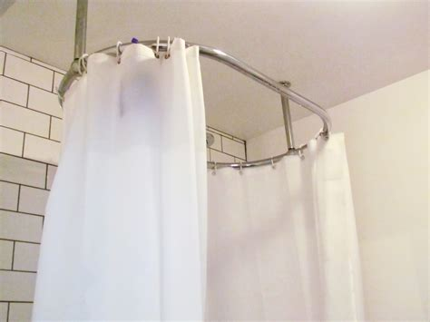 Rod Shower Curtain by Shower Curtain Rod 4 Oval Shower Curtain Rod