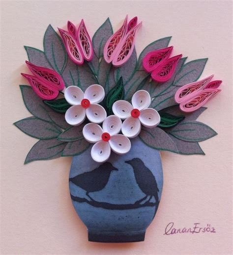Craft Work Paper Flowers - 59 best quilling flowers tulips images on