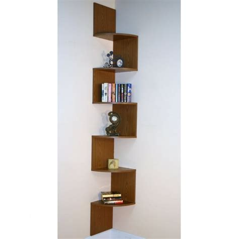 hanging book shelves corner bookshelf the concept to economize a space small