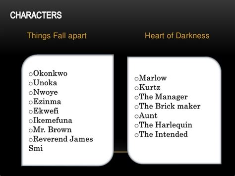 themes in heart of darkness and things fall apart representation of africa in heart of darkness things