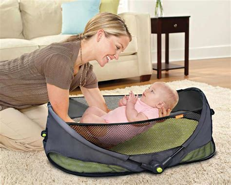 travel bed for baby amazon com brica fold n go travel bassinet infant and