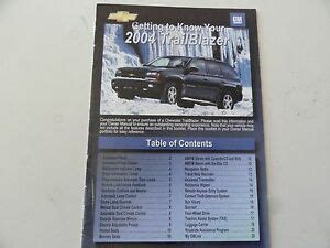 service manuals schematics 2004 chevrolet blazer electronic valve timing 2004 chevrolet trailblazer quick reference guide owners manual supplement ebay