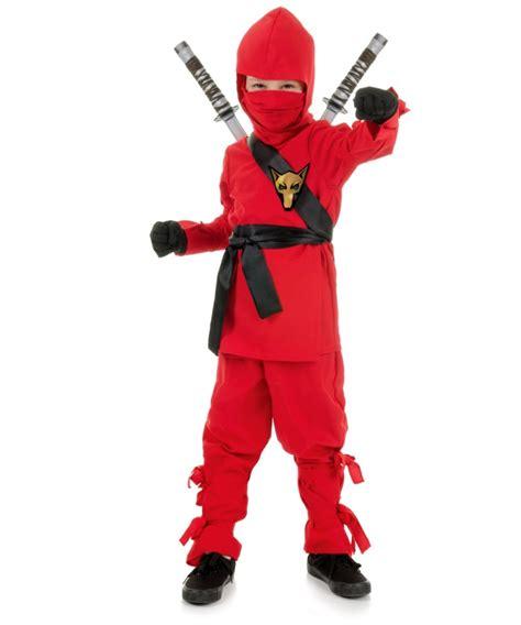 ninja kids halloween costume red boys asian warrior costume