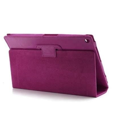 funda tablet xperia z funda de piel para tablet xperia z color morado claro