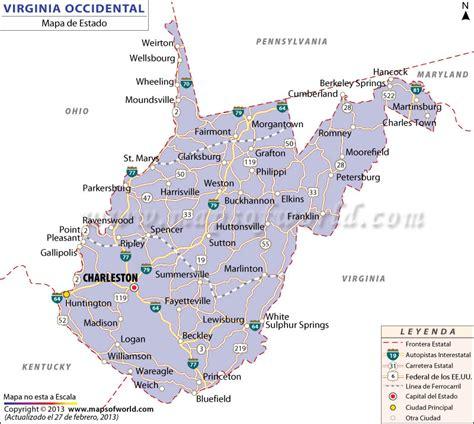 map of west virginia mapa de virginia map