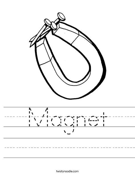 Magnet Worksheets by Magnet Worksheet Twisty Noodle