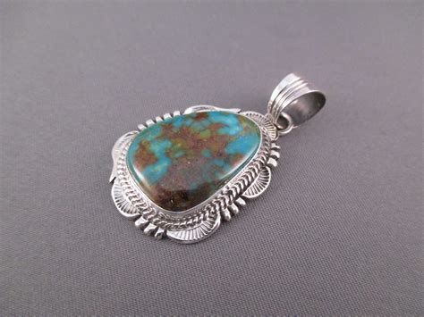 will denetdale sterling silver kingman turquoise pendant