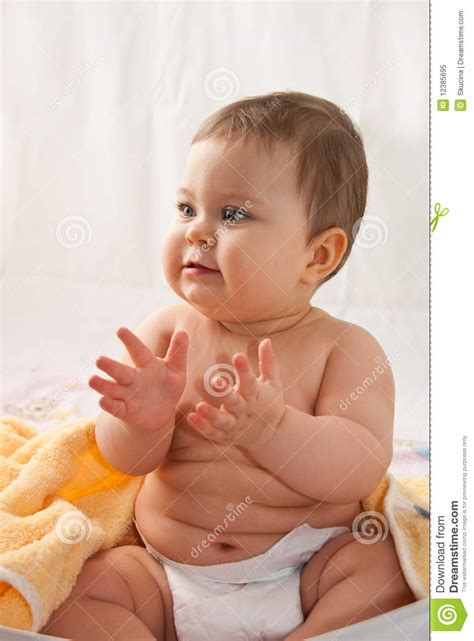 www baby clapping baby royalty free stock photo image 12385695