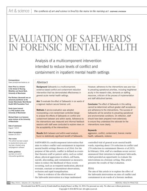 cultural foundations and interventions in a mental health history theory and within differences explorations in mental health books evaluation of safewards in forensic mental health