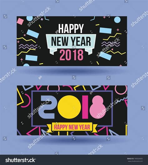 happy new year 2018 greeting card stock vector happy new year 2018 card greeting stock vector 760026835