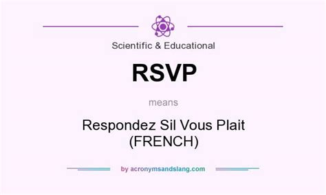 rsvp respondez sil vous plait french in scientific educational by acronymsandslang com
