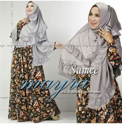 Mayra Black Syari busana muslim koleksi terbaru