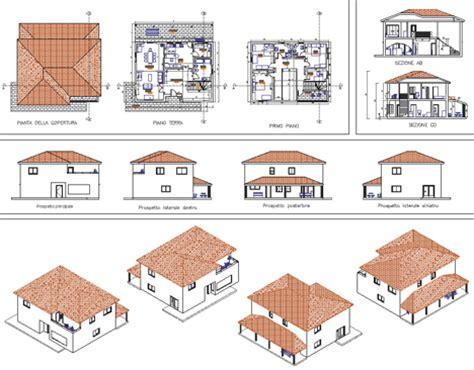 Pianta Casa Unifamiliare by Unifamiliari Dwg
