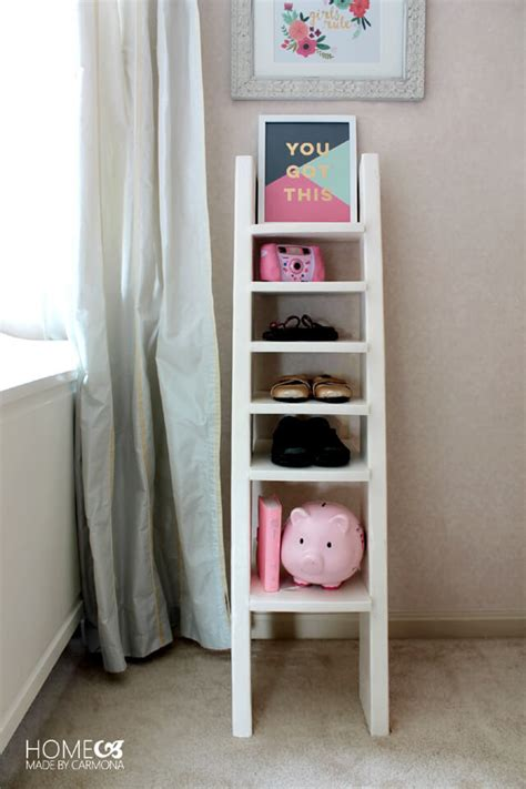 diy shoe shelves diy ladder shoe shelf home made by carmona