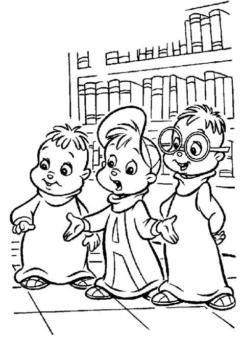 Kids N Fun De Ausmalbild Alvin Und Die Chipmunks Alvin And The Tr 2 Coloring Pages