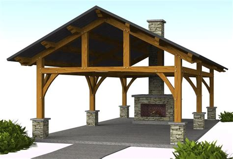 backyard pavilion plans vandever pavilion 16 x 30 timber frame pavilion