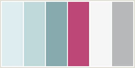 pink and grey color scheme colorcombo133 with hex colors ddecef bfd9da 87aaae
