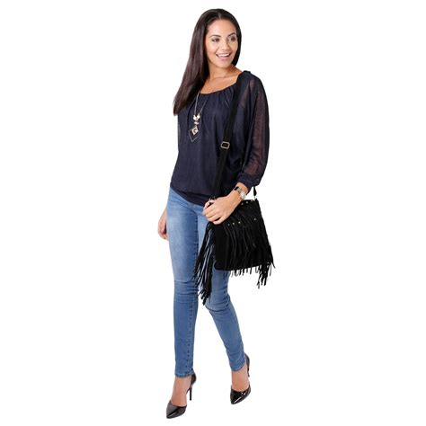 Kimono 2in1 by Damen 2in1 Oversize Chiffon Langarm Top Bluse