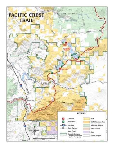 map of oregon pacific crest trail avenza maps