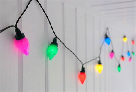 c 6 vintage christmas light bulbs vintage coloured string lights by i retro notonthehighstreet