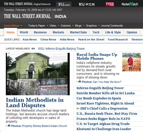 wsj mobile site wall journal launches it s indian edition