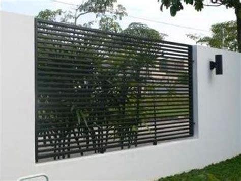 mild steel metal fence modern design garden ideas
