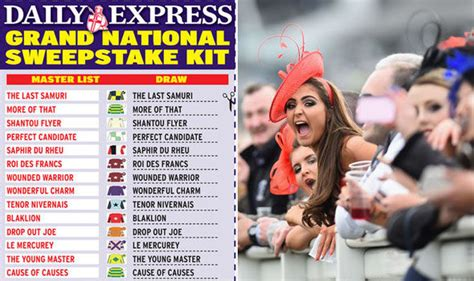 Sweepstake Kit - grand national sweepstake kit download kit with full list of runners racing sport