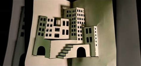 How To Make 3d On Paper - how to make a 3d paper city 171 papercraft wonderhowto