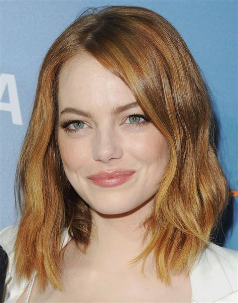 emma stone lob haircut 45 gorgeous celebrity lob and long bob haircuts to inspire