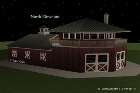 home living design quarter barn plans 4 stall octagon horse barn living quarters
