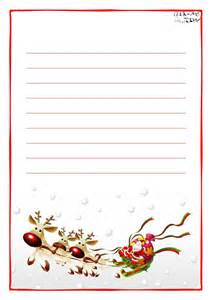 printable letter to santa claus paper with lines sleigh