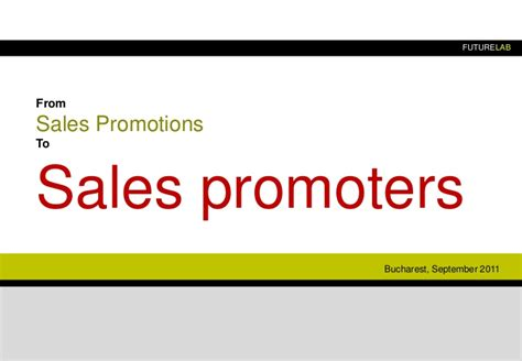 Sales Giveaways - from sales promotions to sales promoters