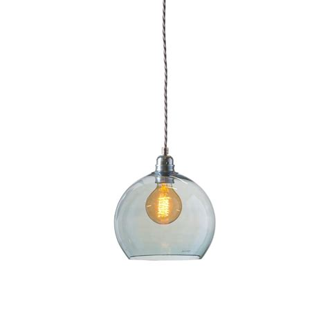 Glass Ceiling Lights Uk Rowan Small Transparent Topaz Blue Glass Ceiling Pendant Light Ceiling Lights From Lighting