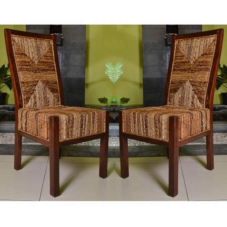 international caravan set of two dallas abaca weave dining