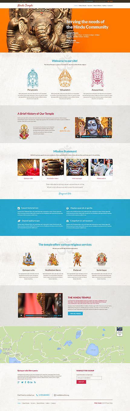 Hindu Temple Responsive Wordpress Theme Helpdesk Website Template