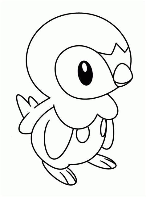 pokemon coloring pages of piplup piplup legendary pokemon coloring page coloring home