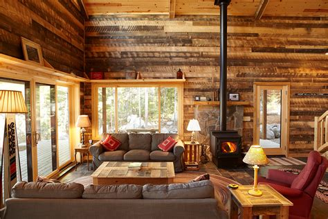 Cabin Themed Living Room by Get Cozy A Rustic Lodge Style Living Room Makeover