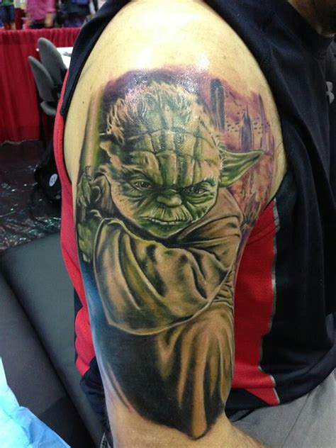yoda tattoos wars yoda strong with the this one is