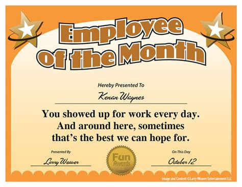 16 best images about funny employee awards on pinterest