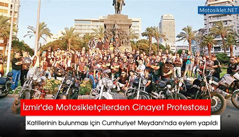 izmirde motosikletcilerden cinayet protestosu