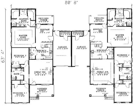 house plans for two families 25 best ideas about duplex house plans on pinterest