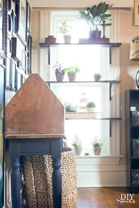 window plant shelves diy window shelves for plants diy show diy decorating and home improvement blogdiy
