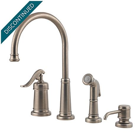 pewter kitchen faucet rustic pewter ashfield 1 handle kitchen faucet 026 4ype pfister faucets