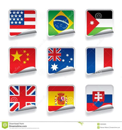 flags of the world vector eps sticker flags royalty free stock photo image 33833895