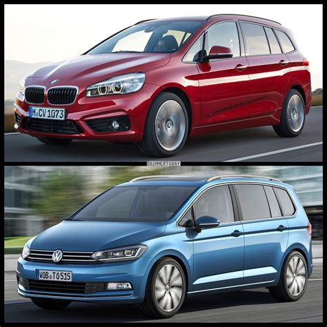 volkswagen bmw photo comparison volkswagen touran vs bmw 2 series gran