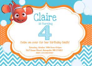Finding Nemo Invitations Template by Related Keywords Suggestions For Nemo Invitations