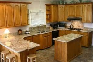 kitchen cabinets and countertops cost golden oak cabinets with quartz google search kitchens