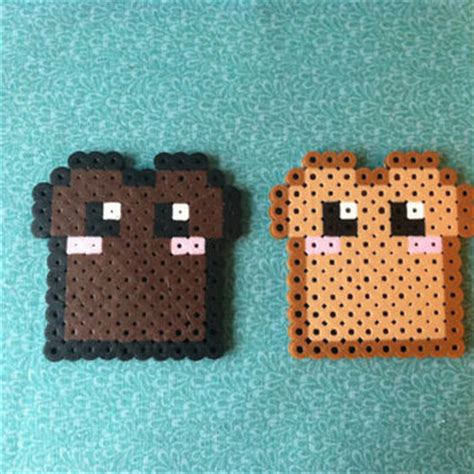 Lilly Pulitzer Bedroom Ideas kawaii toast and burnt toast perler bead from geektasticcrafts